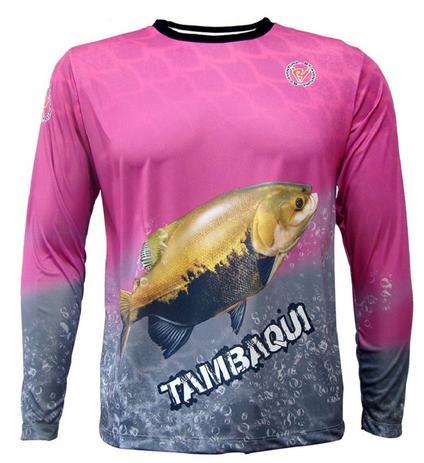 876d02e2c Camiseta de Pesca By Aventura Tambaqui Rosa - Blazer e Jaqueta ...