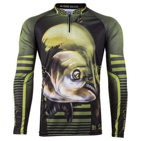 Imagem de Camiseta De Pesca King Proteção Solar Uv Viking 19 - Tamba