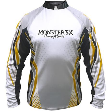 Camiseta de Pesca Monster 3X New Fish 01 com Proteção Solar UV ... 68d016a947d66