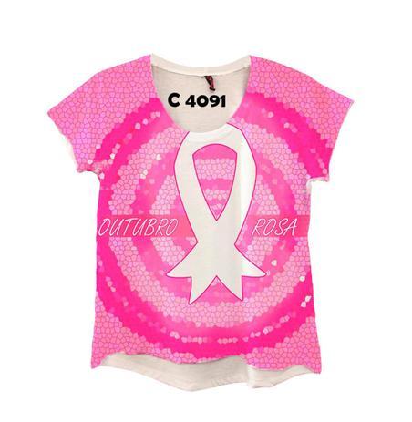 Imagem de Camiseta Feminina Campanha Outubro Rosa C4091