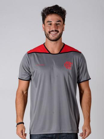 a592e92a26584 Camiseta Flamengo Braziline Up Adulto - Cinza - Camisa de Time ...
