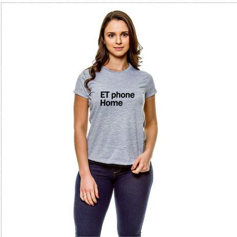 Imagem de Camiseta Frases ET Phone Home Baby Look GY