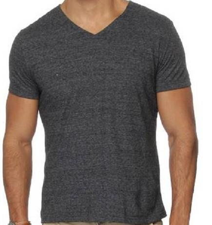 70d49b6fc Camiseta Gola V Manga Curta Básica Masculina Malwee- 422 - Camisa de ...