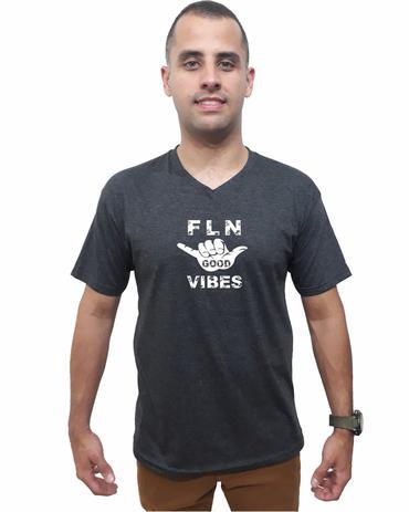 Camiseta Good Vibes Da Ilha Floripa Camisa Gola V Masculina Original  Algodão Qualidade b89281d6787f1