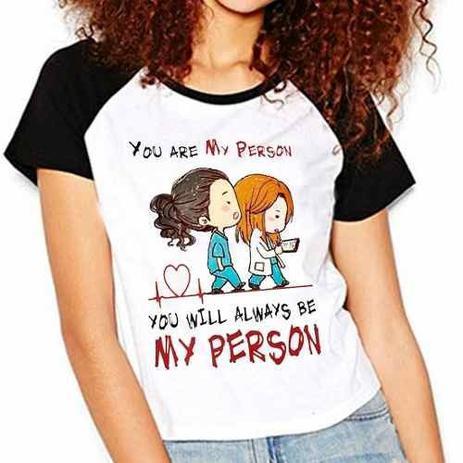 Imagem de Camiseta Greys Anatomy You Are My Person Raglan Babylook