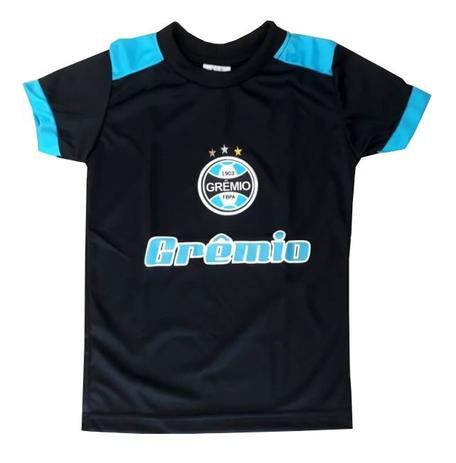 472931045f Camiseta Infantil Grêmio Passeio Preta Oficial - Bebê brasileiro ...