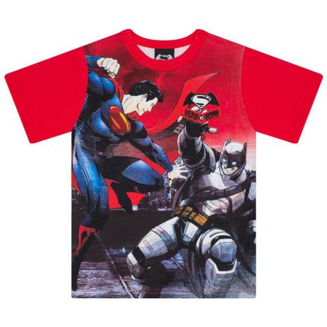 47fff2fa6eb31 Camiseta Infantil Masculino Batman vs Superman Vermelho - Marlan ...