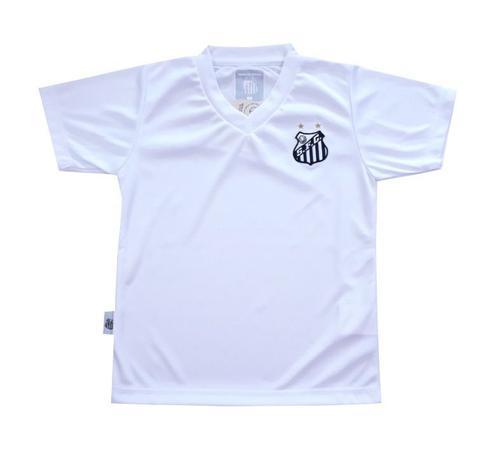 Camiseta Infantil Santos Branca Gola V Oficial - Revedor - Camiseta ... a41c75108cfa7