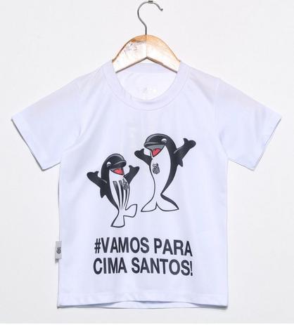 4b656059bcbf4 Camiseta Infantil Santos Branca Mascote Oficial - Revedor - Camiseta ...