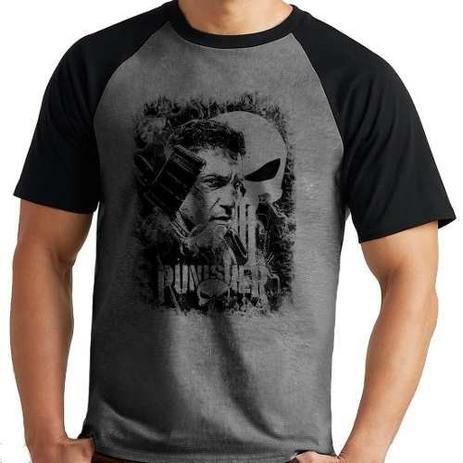 Imagem de Camiseta Justiceiro The Punisher Marvel Série Mescla Curta