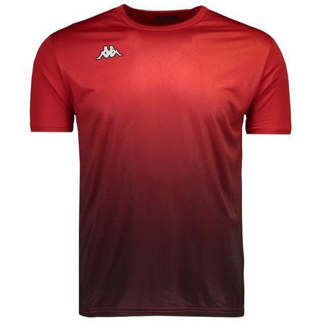 bb1ac85fd4 Camiseta Kappa Clair Masculina - Vermelho - Camisa para Corrida ...