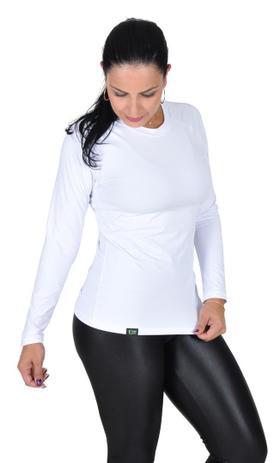 8629f8a5f1 Camiseta Less Now Feminina Fator Proteção Solar 50 Uva uvb Branca ...