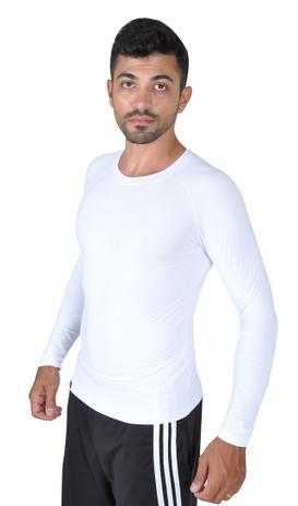 6e4c393904 Camiseta Less Now Masculina Fator Proteção Solar 50 Uva uvb Branco ...