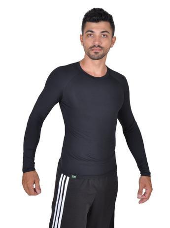 9e969bd33fe69 Camiseta Less Now Masculina Fator Proteção Solar 50 Uva uvb Preta ...
