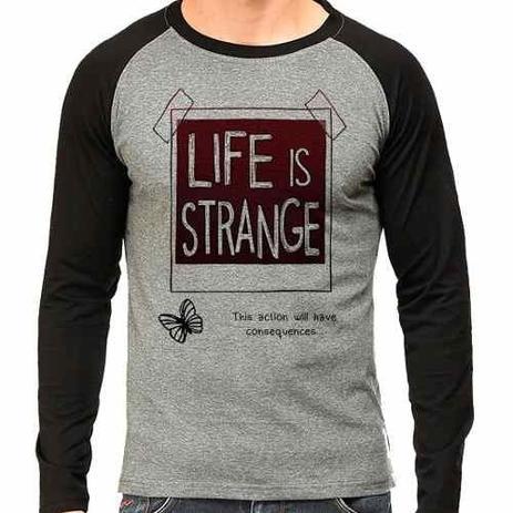 Imagem de Camiseta Life Is Strange Raglan Mescla