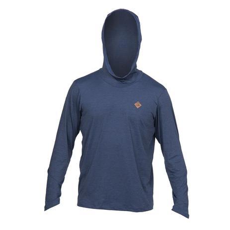 Camiseta manga longa com capuz dry comfort 1a uv mormaii AZUL-MARINHO 31b0e4ee0b002
