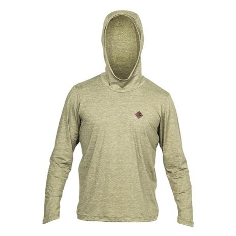 Camiseta manga longa com capuz dry comfort 1a uv mormaii VERDE-MILITAR b777ca0f06c20