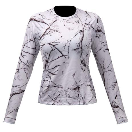 Camiseta manga longa feminino dry action 2b uv mormaii branco-preto ... 085120641d9