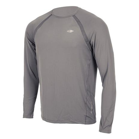 Camiseta Manga Longa Masculino UV Dry Flex CINZA - Mormaii - Camisa ... 372e78193d