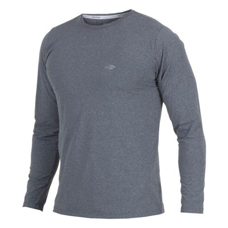 192a6d8ee4 Camiseta Manga Longa Mescla Masculino UV Dry Flex CINZA - Mormaii ...