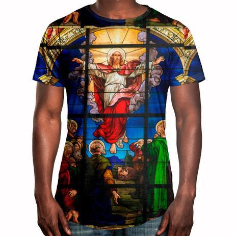 2f676b79ef Camiseta Masculina Longline Oversized Vitral Jesus Swag - Over fame ...