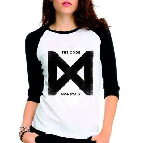 Imagem de Camiseta Monsta X The Code Kpop Raglan Babylook 3/4