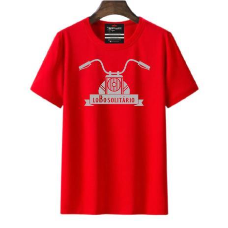 Imagem de Camiseta moto lobo solitário masculina