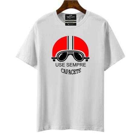 Imagem de Camiseta moto use sempre capacete masculina