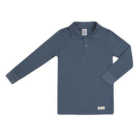 29075bac7 Camiseta Polo Básica Masculino Manga Longa Azul - Pulla bulla ...