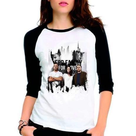 Imagem de Camiseta Prison Break Scofield Raglan Babylook 3/4