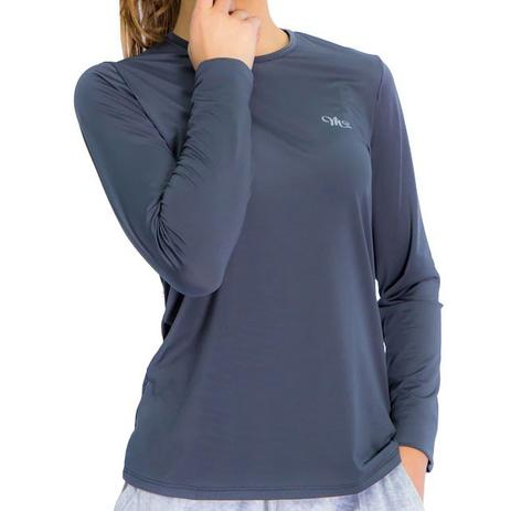 3b16fbda0e Camiseta Proteção Solar UV DRY Manga Longa Feminina Chumbo - Mprotect