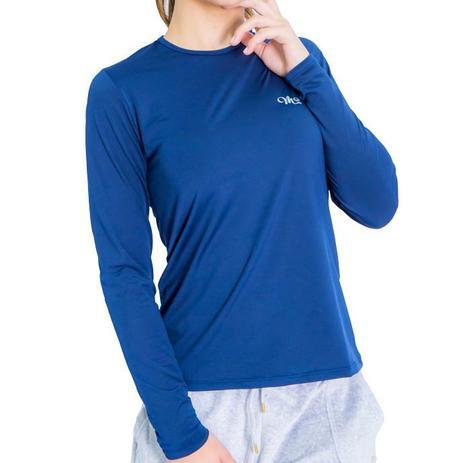 a528a56470 Camiseta Proteção Solar UV DRY Manga Longa Feminina Marinho - Mprotect