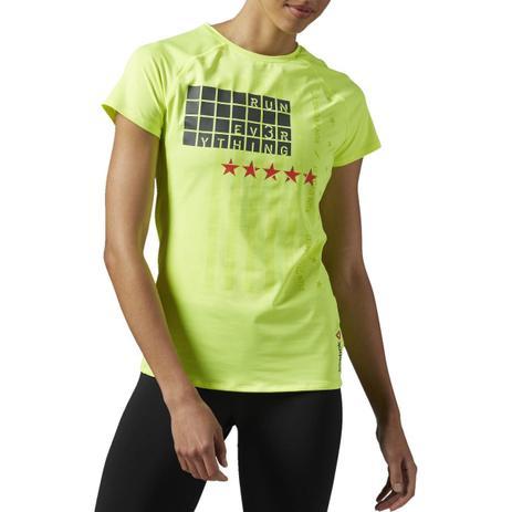 Imagem de Camiseta Reebok Camisa Feminina Refletiva Corrida De Rua