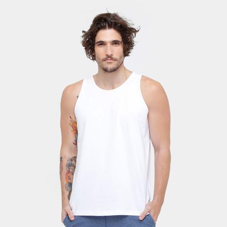 Camiseta Regata Básica Masculina kohmar- Branca- 101 - Regata de ... 658bd3c5fb3