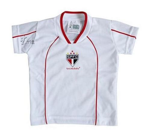 0b4e807ee Camiseta São Paulo Infantil Branca Futebol Mania - Torcida baby ...