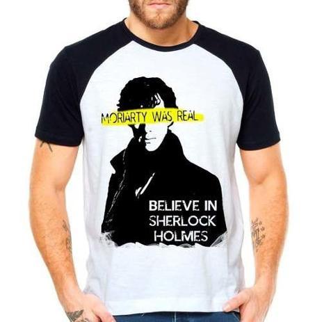 Imagem de Camiseta Sherlock Holmes Moriarty Série Raglan Manga Curta