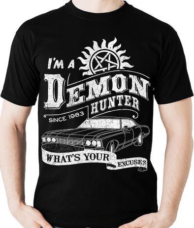 Imagem de Camiseta Supernatural Demon Hunter Sobrenatural Camisa Blusa
