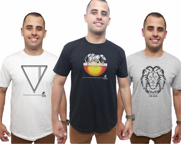 74f32e15e1 Camisetas Kit 3 Masculina Combo Promoção Camisas Qualidade - Da ilha floripa