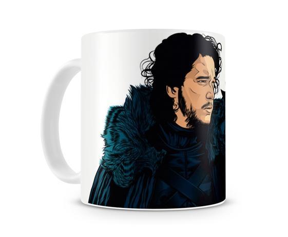 Caneca Game Of Thrones Jon Snow Desenho Artgeek Canecas