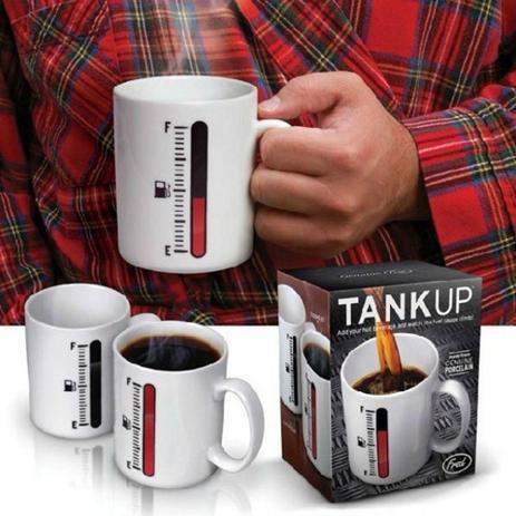 Imagem de Caneca Porcelana Sensitiva ao Calor com Mostrador Tipo Termomêtro Change Cup