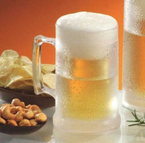 dff1ec48a Caneca Térmica com Gel para chopp ou bebida gelada 6 unidades 300 ml  Acrílico - Kaballa