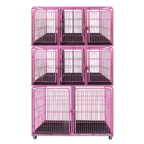 Imagem de Canil Gaiola Modular 8 Lugares Pet Shop Veterinária