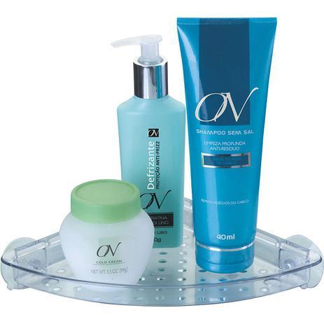 Imagem de Cantoneira para Shampoo com Ventosa Arthi Cristal