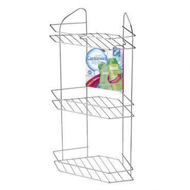 Imagem de Cantoneira Tripla Para Banheiro Arthi Shampoos Condicionador