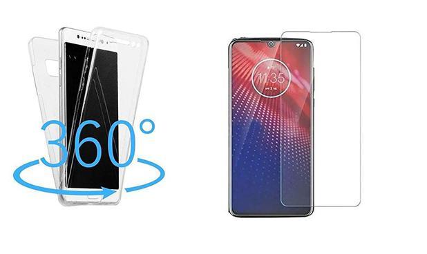 Imagem de Capa 360 Antishock Motorola Moto E6 Plus + 01 Película De Gel Cobre 100% Tela, Acompanha Kit Sachê