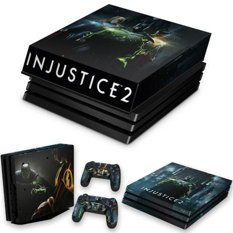 Imagem de Capa Anti Poeira e Skin para PS4 Pro - Injustice 2