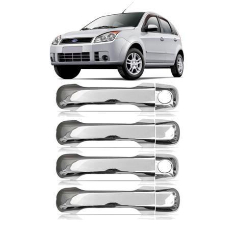 Imagem de Capa Aplique Maçaneta Cromado Ecosport 2003 a 2012 Fiesta 2002 a 2010 4 PORTAS