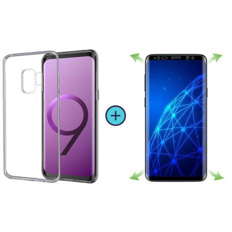 Imagem de Capa Capinha Tpu Básica Samsung Galaxy S9 Plus (S9+) + Película de Gel Cobre 100% Tela