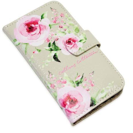 Imagem de Capa carteira couro cc rose verniz marfim samsung j7 prime g610