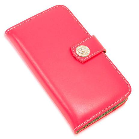 Imagem de Capa carteira couro strass pink samsung j7 prime g610